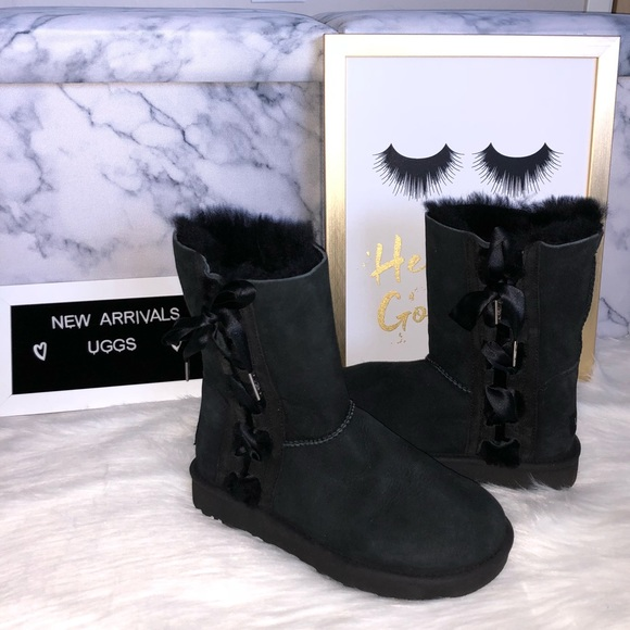 797ff6d3e5f UGG Australia Pala Lace Up Bow Classic Short Boots